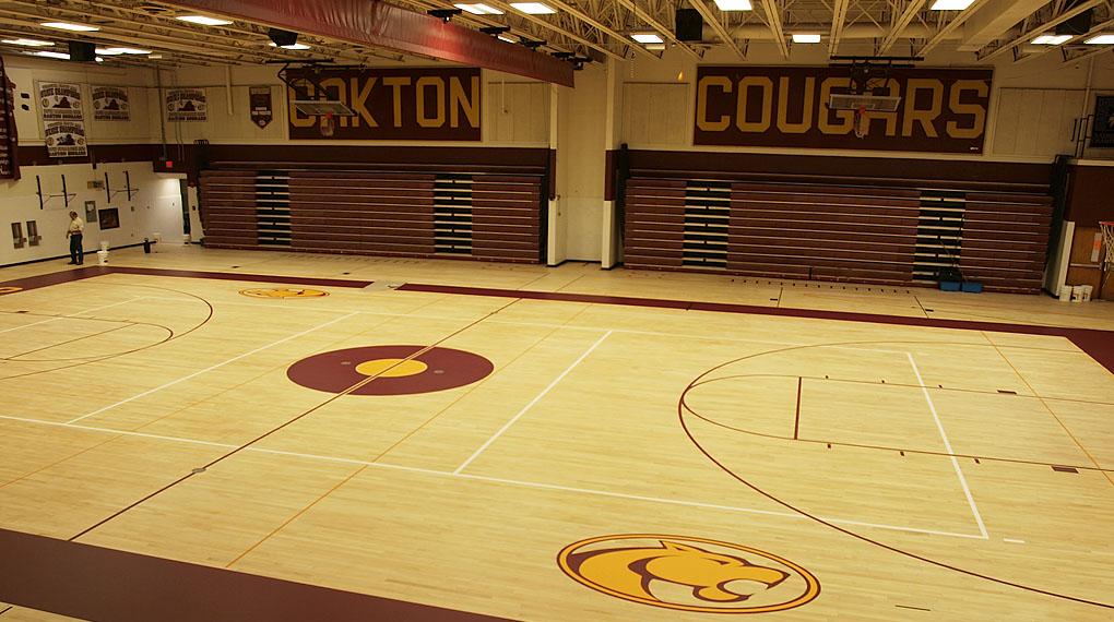 Gym Sports Court Logos Oakton High School Gemi